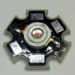 LED 1W UV ULTRA VIOLET 3V 350mA 395-400lm