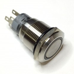 BUTTON ON/OFF GREEN LED 24V VANDAL-RES(S) PROTRUDE