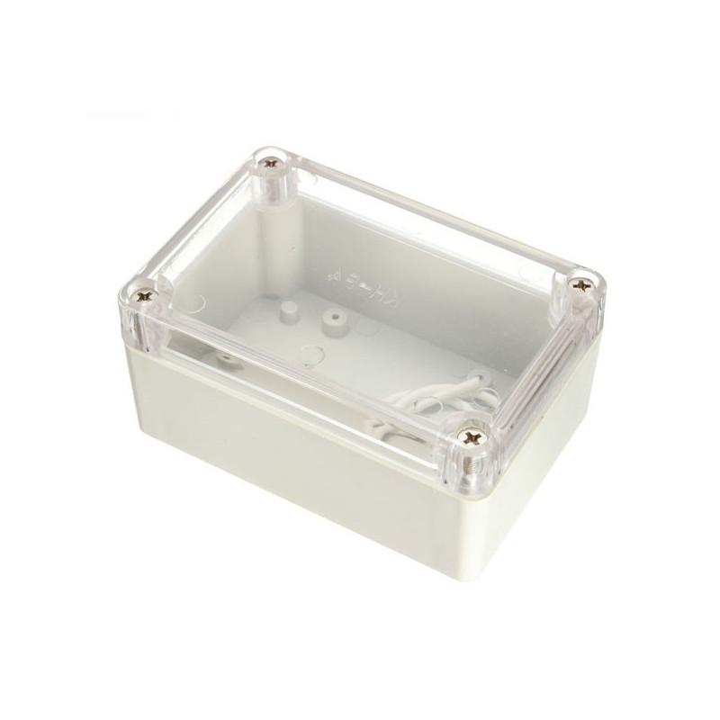 PLASTIC SEALED BOX 100X65X50MM W/ CLEAR TOP