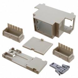 BOX ABS/PC 1.43 X 3.55 X 2.26'' GRY DIN RAIL MOUNT