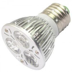 LED SPOT LIGHT, E27, 110V, 3x1W, COLD WHITE