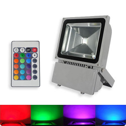 WALL WASH LED 100 WATT RGB WATERPROOF W/REMOTE