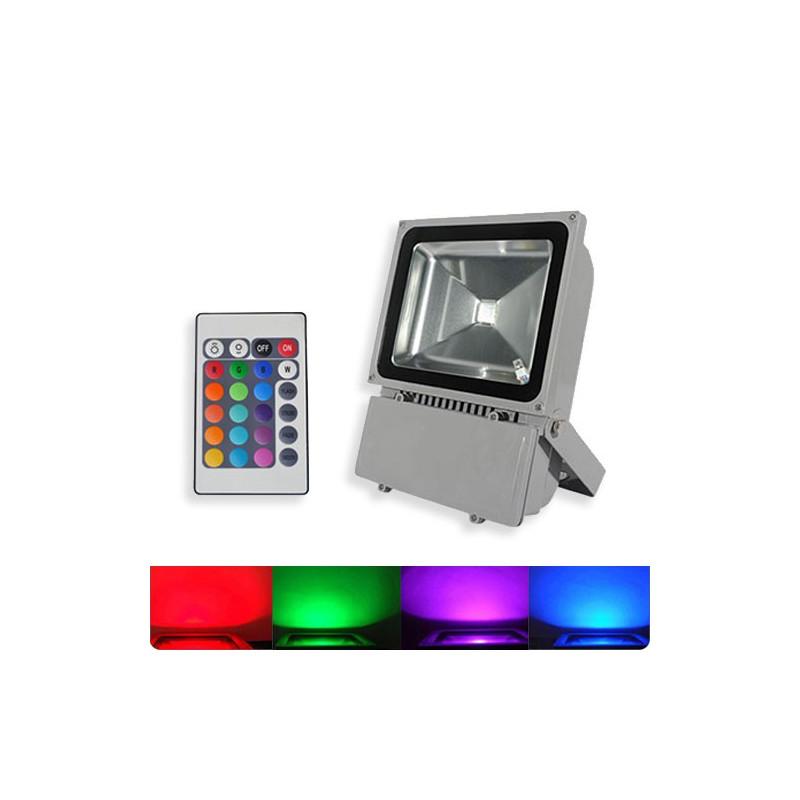 WALL WASH LED 100WATT RGB WATERPROOF W/REMOTE