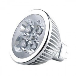 LED SPOT LIGHT, MR16, 12V, 4x1W, COLD WHITE