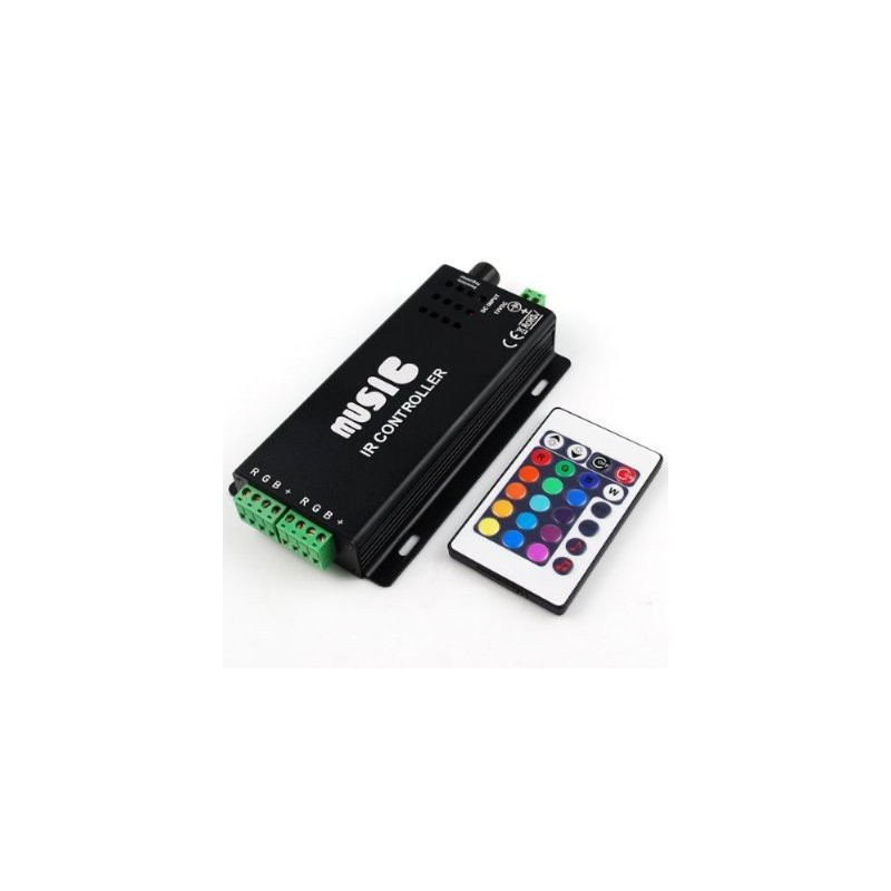 LED RGB 12-24V MUSIC-SYNC CONTROLLER WITH IR CTRL