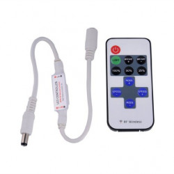 LED CONTROLLER W/RF REMOTE 5-24V 5A