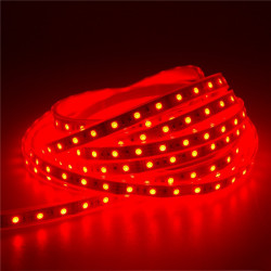 LED STRIP, 5050, 12V, W/ TUBING, RED, 1M