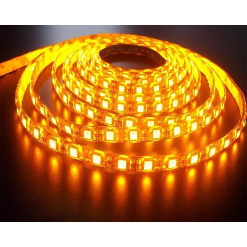 LED STRIP, 5050, 12V, W/ SILICON, YELLOW, 1M
