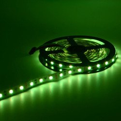 LED, STRIP, 5050, 12V, W/O SILICON, GREEN, 1M