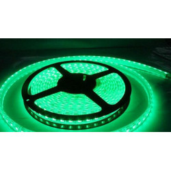 LED STRIP, 5050, 12V, W/ TUBING, GREEN, 1M