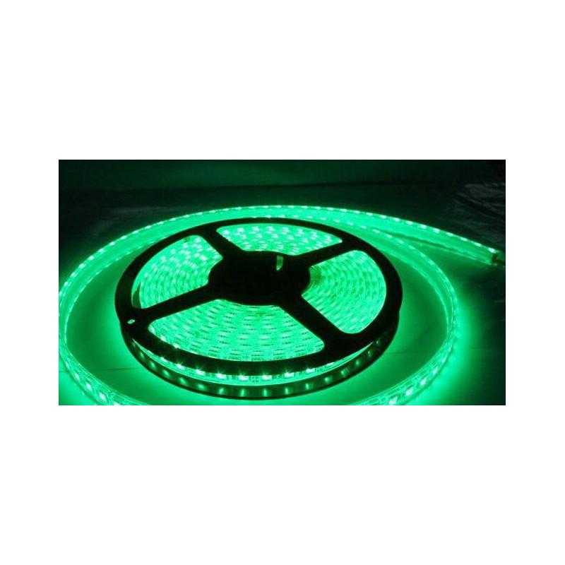 LED STRIP, 5050, 12V, W/ TUBING, GREEN, 1M