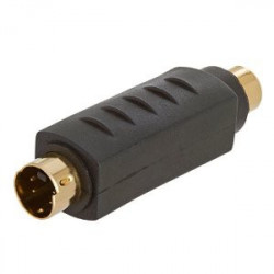 S-VHS VIDEO MALE / RCA FEMALE ADAPTOR