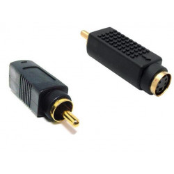 S-VIDEO FEMALE / RCA MALE ADAPTOR