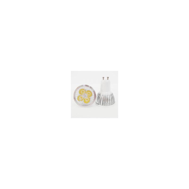 LED SPOT LIGHT, GU10, 110V, 4x1W, COLD WHITE