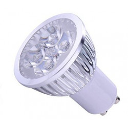 LED SPOT LIGHT, GU10, 110V, 4x1W, WARM WHITE