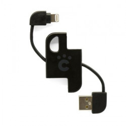 CHEERO PLATE CABLE WITH LIGHTNING BLACK
