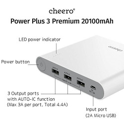 CHEERO POWER PLUS 3 PREMIUM 20100mAh