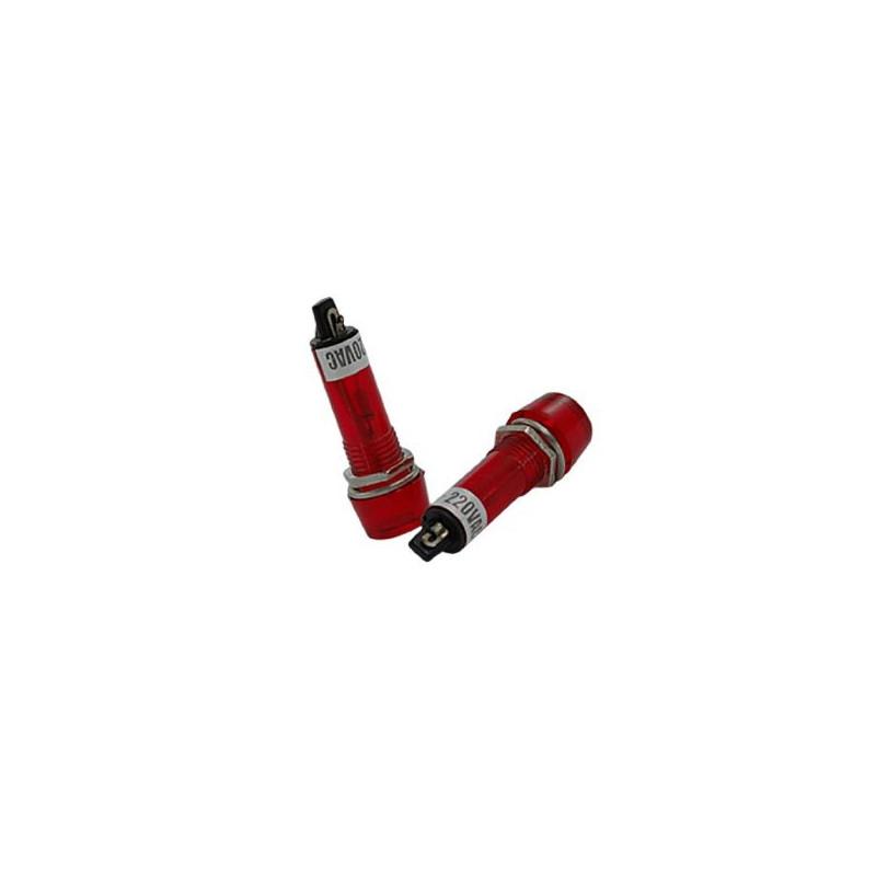 PILOT LAMP 120VAC NEON LAMP RED THICKER CAP/WIDTH