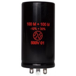 ELECTROLYTIC CAP JJ 500V 100+100MFD
