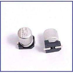 ELECTROLYTIC CAP 25V 4.7UF SMD 10PCS