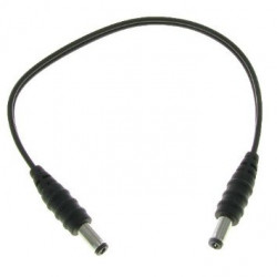 SHORT 2.1MM TO 2.1MM CABLE ADAPTER M/M