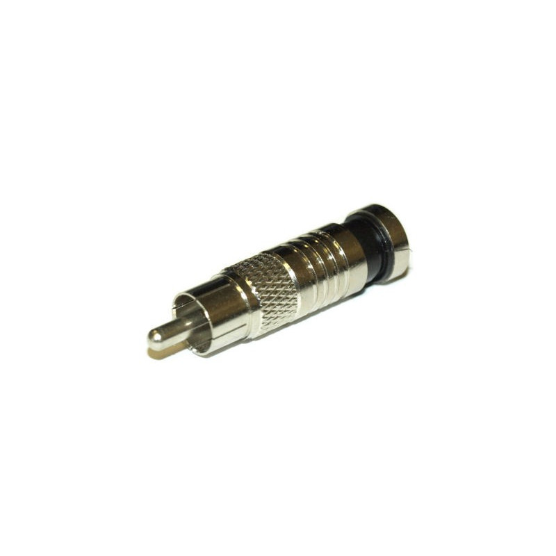RCA COMPRESSION CONNECTOR FOR/RG-6
