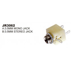3.5MM MONO CHASSIS MOUNT JACK 2/PKG SLF3062A