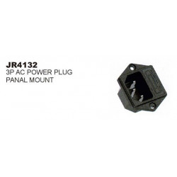 IEC PANEL SOCKET3-PIN W/FUSE SLF-4132