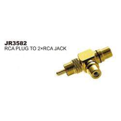 RCA (M)- 2XRCA (F) T- ADAPTOR JL-0191/SLF-3582
