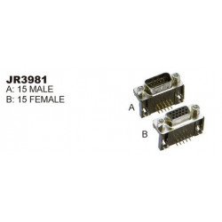 RIGHT ANGLE HD15 FEMALE PCB MOUNT SLF-3981B