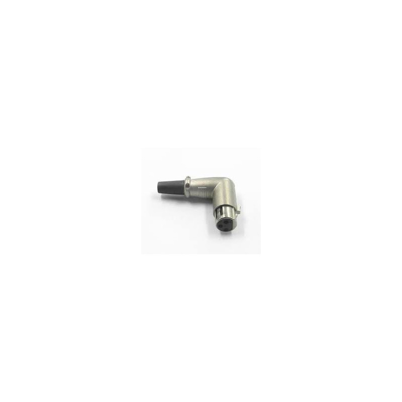 XLR 3-PIN RIGHT ANGLE FEMALE CONNECTOR