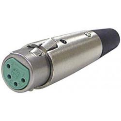 XLR 4-PIN FEMALE CONNECTOR SLF-5815-4P