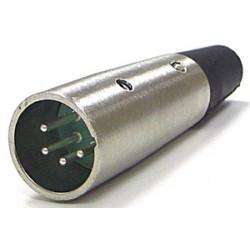 XLR 4-PIN MALE CONNECTOR SLF-5814-4P