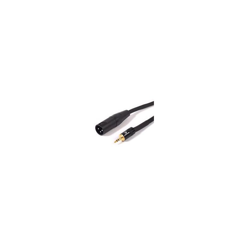 AUDIO CABLE, 3.5MM ST (M) - XLR (M) 1M/3FT
