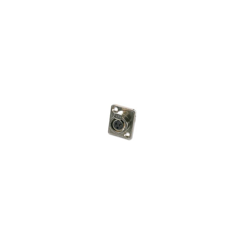 XLR MINI 3-PIN JR2729A FEMALE CHASSIS MOUNT