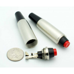 IN-LINE BUTTON SWITCH XLR BARREL ON-OFF