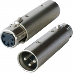 XLR 3-PIN (M) TO 5-PIN (F) DMX ADAPTER