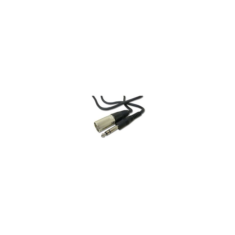 """AUDIO CABLE, 1/4"""" TO XLR(M) STEREO, 10FT"""