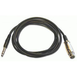 "AUDIO CABLE, 1/4"" - XLR(F) STEREO, 2M"