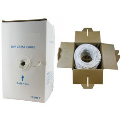 ETHERNET CABLE RJ-45 CAT5E GREY (1000FT) BOX