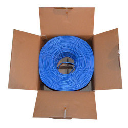 ETHERNET CABLE RJ-45 CAT5E BLUE (1000FT) BOX