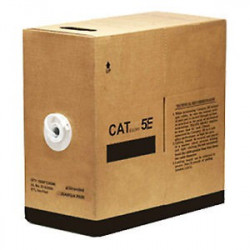 ETHERNET CABLE RJ-45 CAT5E WHITE (1000FT) BOX