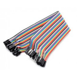 FLAT RIBBON JUMPER CABLE 40 PIN F/F 300MM