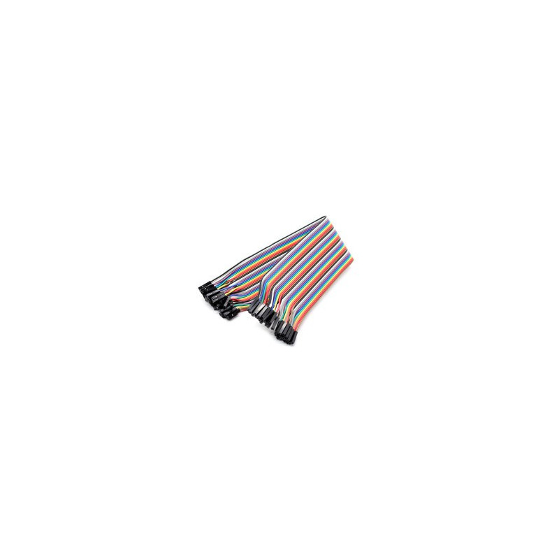 FLAT JUMPER CABLE 40 PIN FEMALE/FEMALE 300MM