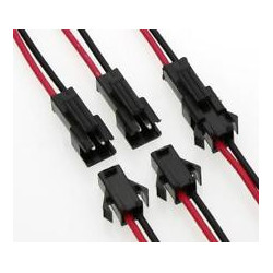JST-SM 2.5MM 2P M/F W/200MM WIRES SET