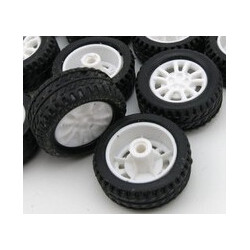 WHEELS, RUBBER, DIA:2.5CM 4PCS