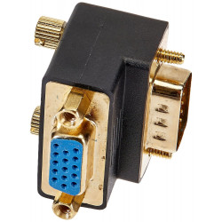 VGA COUPLER F/M - 90 DEGREE (GOLD PLATED)