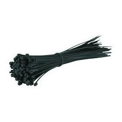 CABLE TIE, GT-300ST, 300X4.8MM, BLACK, 100PCS