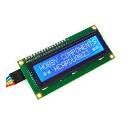 LCD DISPLAY 2X16 BLUE WITH I2C INTERFACE