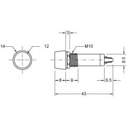 PILOT LAMP 12V DC/AC LAMP ORANGE N-034